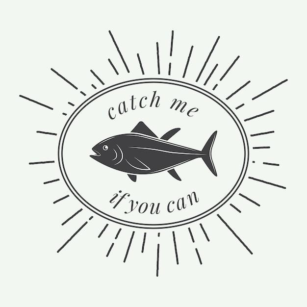 釣りラベル Premiumベクター
