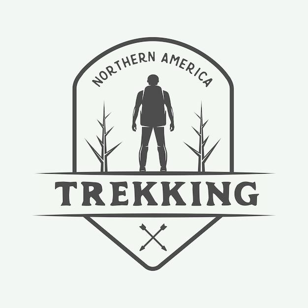 キャンプの屋外ロゴ Premiumベクター