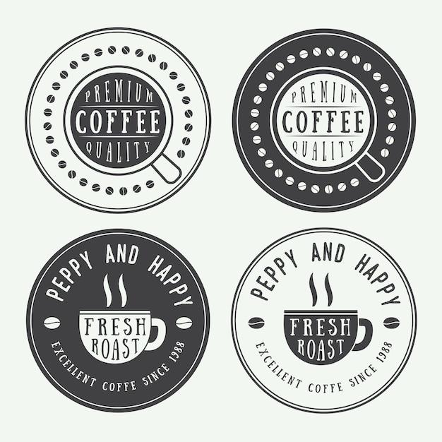 Логотипы кофе, этикетки Premium векторы
