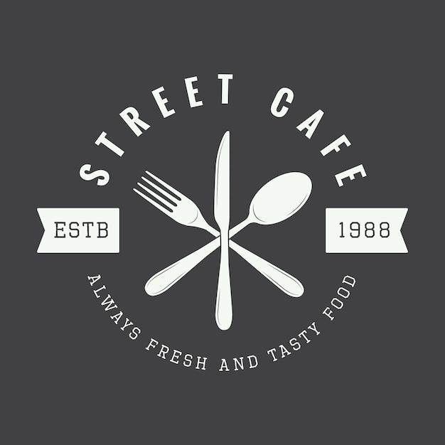 レストランのロゴ、バッジ Premiumベクター
