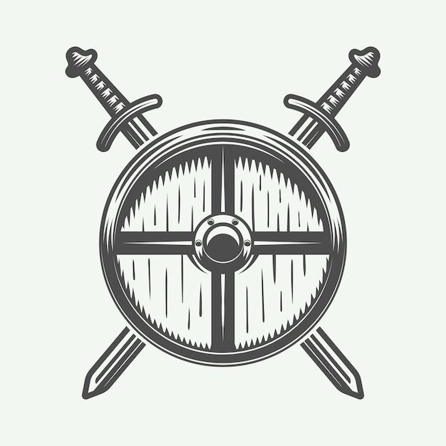 ヴァイキングのロゴ、エンブレム Premiumベクター