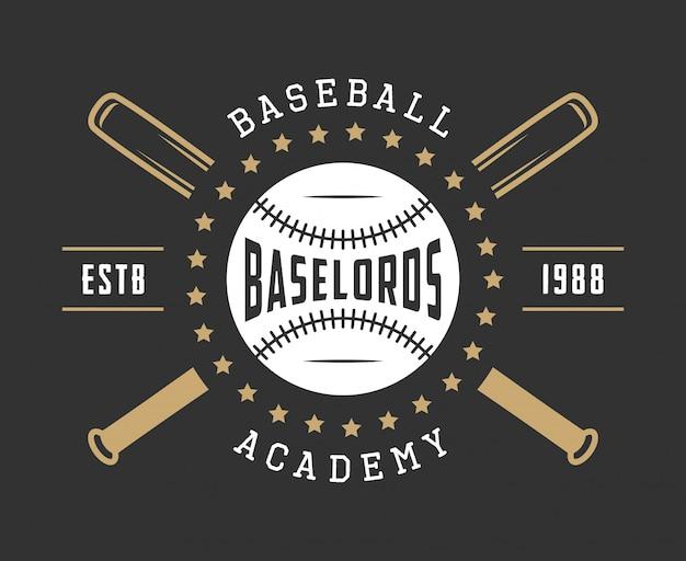 野球のロゴ Premiumベクター