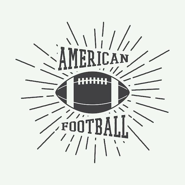 アメリカンフットボールのエンブレム Premiumベクター