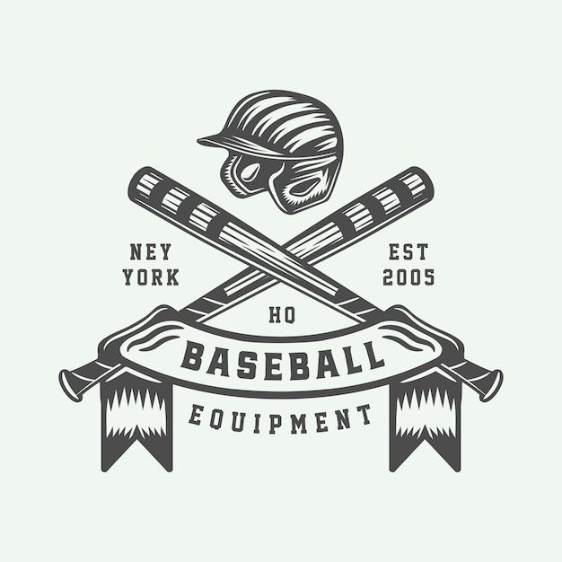 Урожай бейсбол спортивный логотип Premium векторы