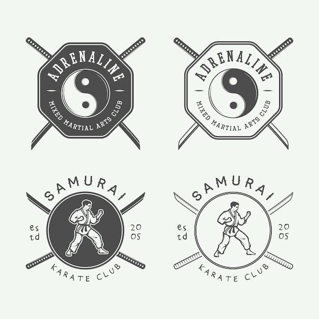 空手または武道のロゴ Premiumベクター