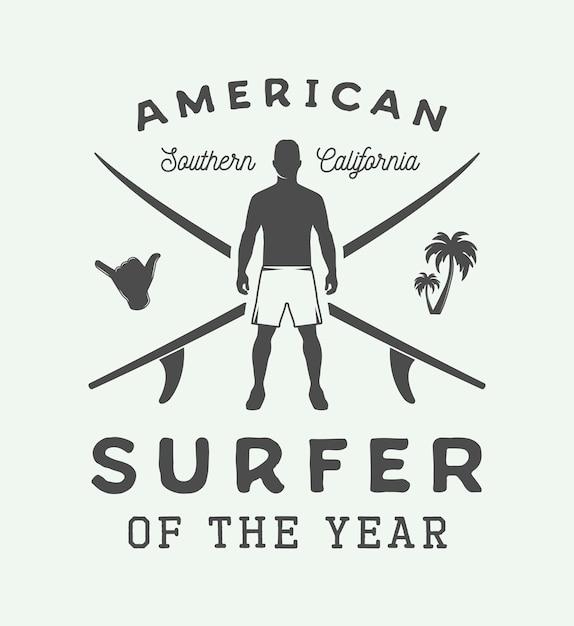 サーフィンのロゴ Premiumベクター