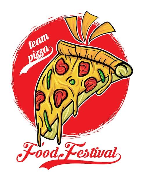 Фестиваль пиццы Premium векторы