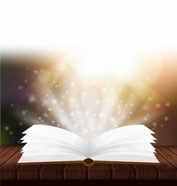 魔法の本を開く Premiumベクター