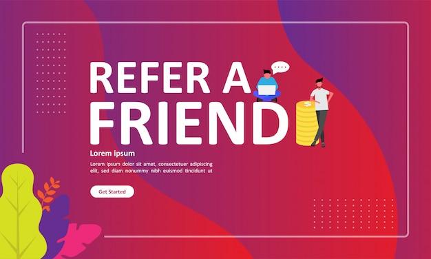 友人のベクトル図を参照してください。 Premiumベクター