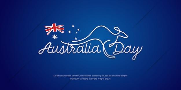 Счастливый плакат празднования дня австралии, минимальный фон баннера Premium векторы