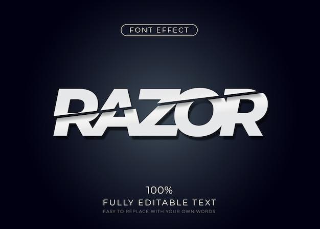 Нарезанный текстовый эффект. редактируемый стиль шрифта Premium векторы