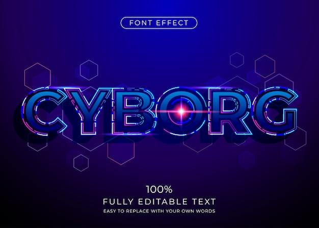 Футуристическая технология текстового эффекта. редактируемый стиль шрифта Premium векторы