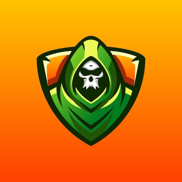 頭蓋骨のロゴデザイン Premiumベクター