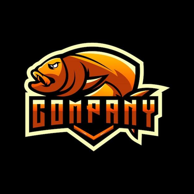 魚のロゴデザイン Premiumベクター
