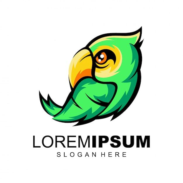 オウムのロゴ Premiumベクター