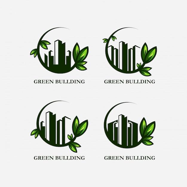 グリーンホームのロゴ Premiumベクター