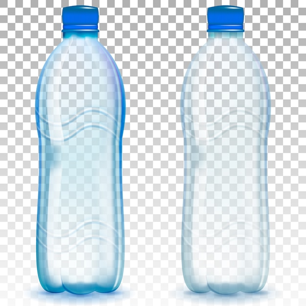 現実的なプラスチックボトル。 Premiumベクター