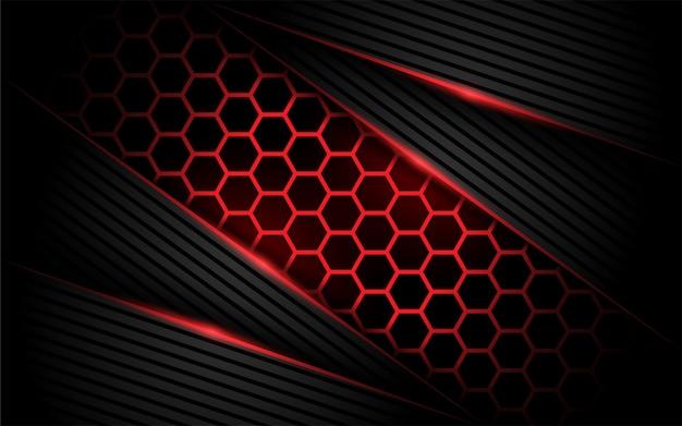 Шестиугольник современный красный фон Premium векторы