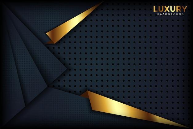 豪華な抽象的な黒の背景 Premiumベクター