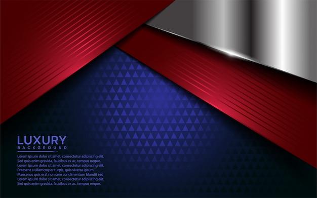 オーバーラップ層と愛国心が強い現代の背景 Premiumベクター