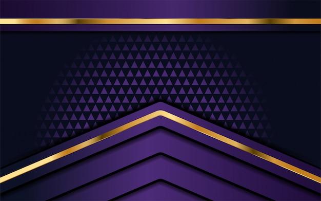 オーバーラップ層と豪華な紫色の背景 Premiumベクター