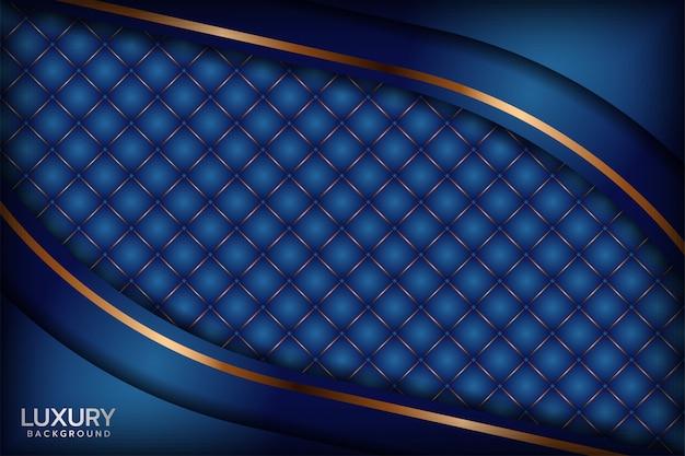 Абстрактный королевский синий фон Premium векторы