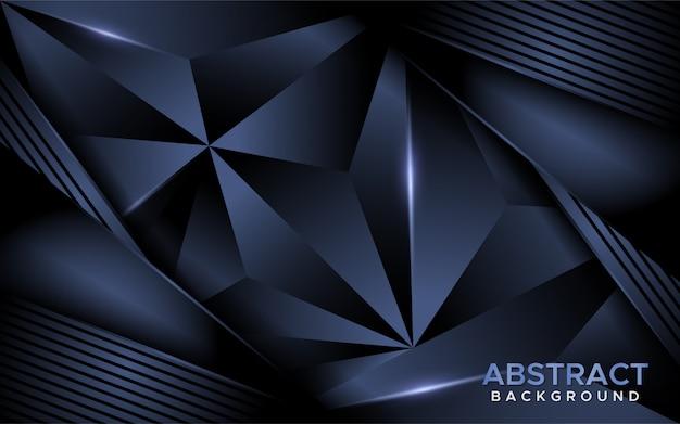 豪華な抽象的な暗い海軍モザイク背景。 Premiumベクター