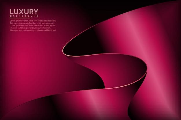 Абстрактный королевский красный элегантный фон Premium векторы