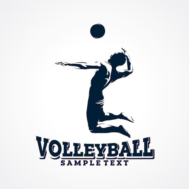 Волейбол векторный логотип, премиум силуэт вектор Premium векторы