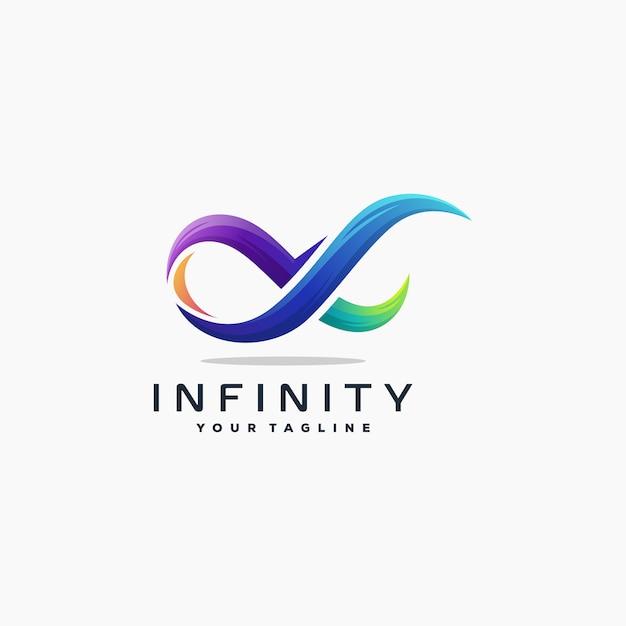 素晴らしいインフィニティロゴデザインベクトル Premiumベクター