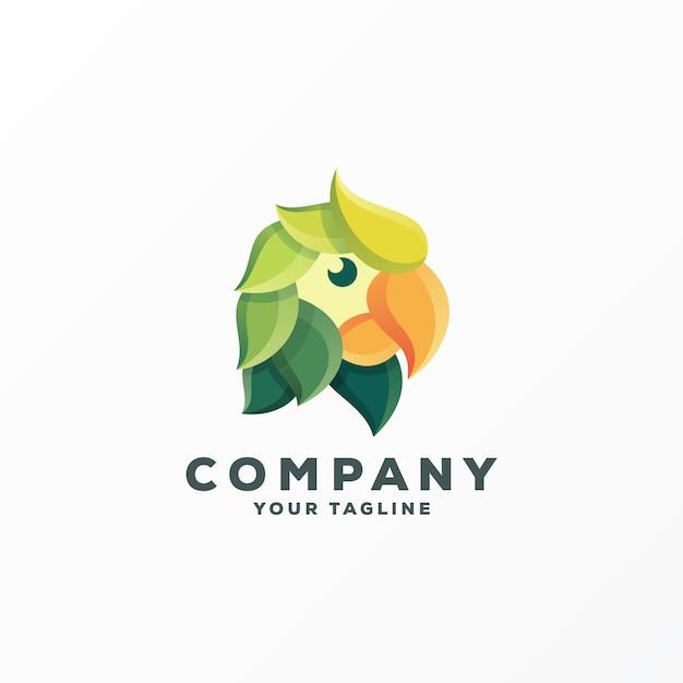 素晴らしい鳥のロゴデザインベクトル Premiumベクター