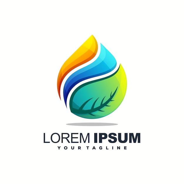 Высокий капли воды дизайн логотипа вектор Premium векторы
