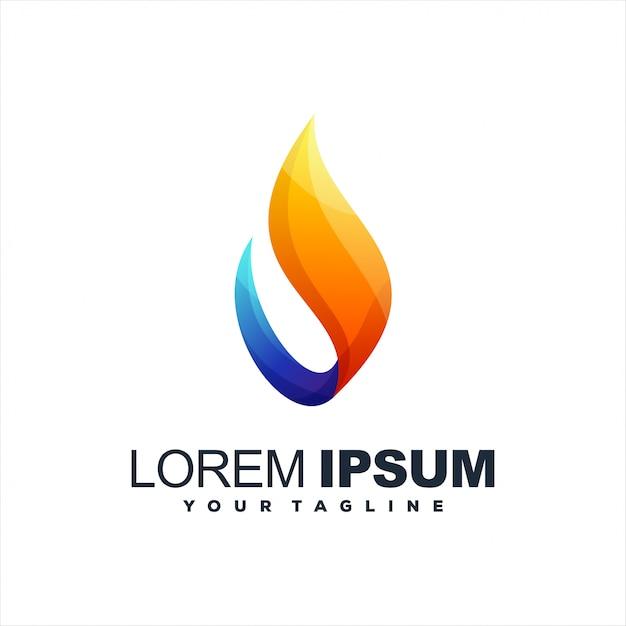 Удивительный абстрактный дизайн логотипа градиента Premium векторы