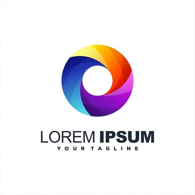 Удивительный градиент абстрактный дизайн логотипа Premium векторы