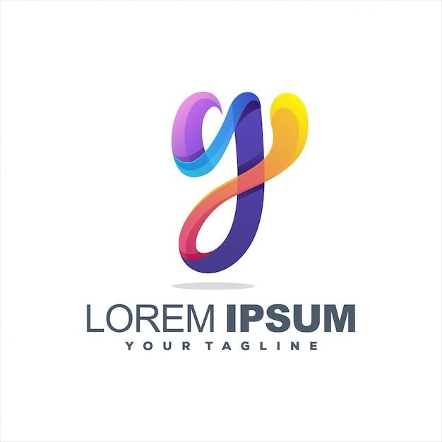 Удивительная буква и дизайн логотипа Premium векторы