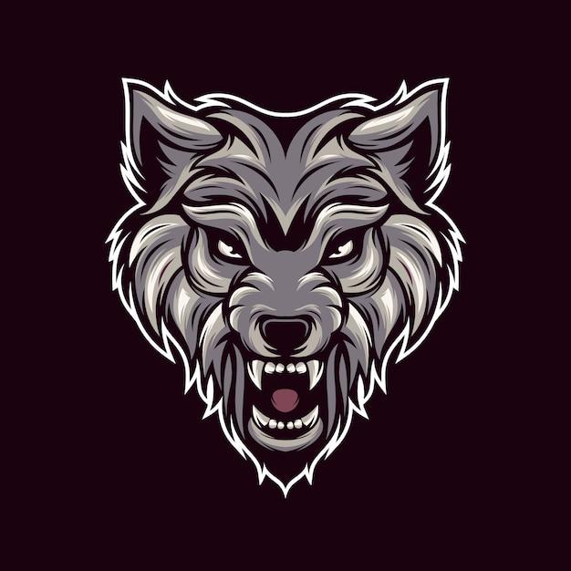 オオカミのロゴのベクトル Premiumベクター