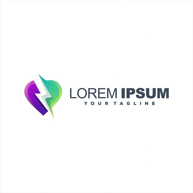 Потрясающий свет любви шаблон логотипа Premium векторы