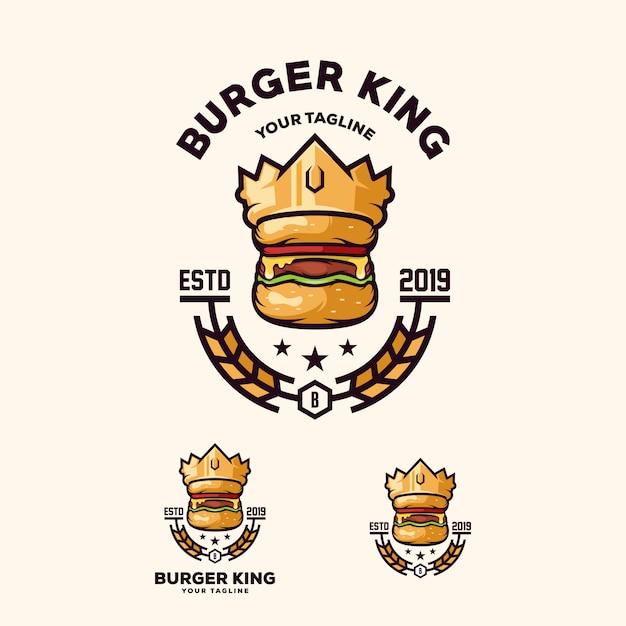 ハンバーガーのロゴのベクトル Premiumベクター