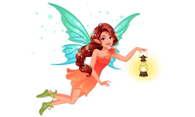 美しい妖精 Premiumベクター
