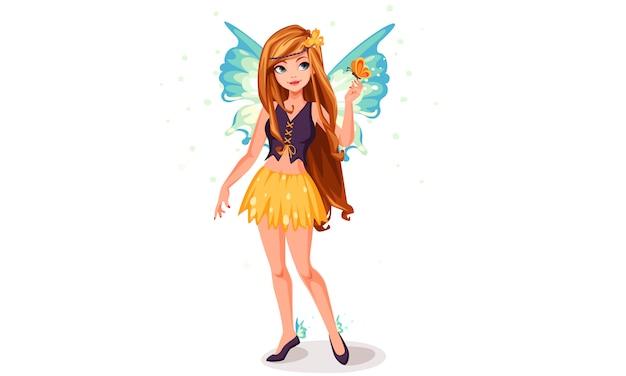 青い翼の妖精 Premiumベクター