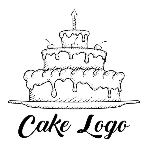 手描きケーキ Premiumベクター