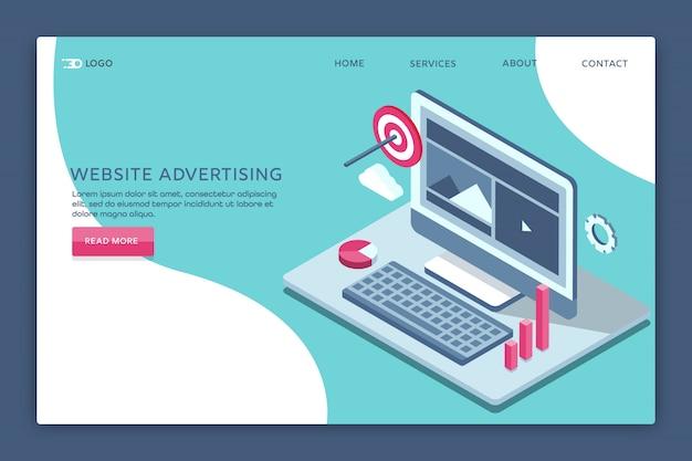 ウェブサイト広告 Premiumベクター