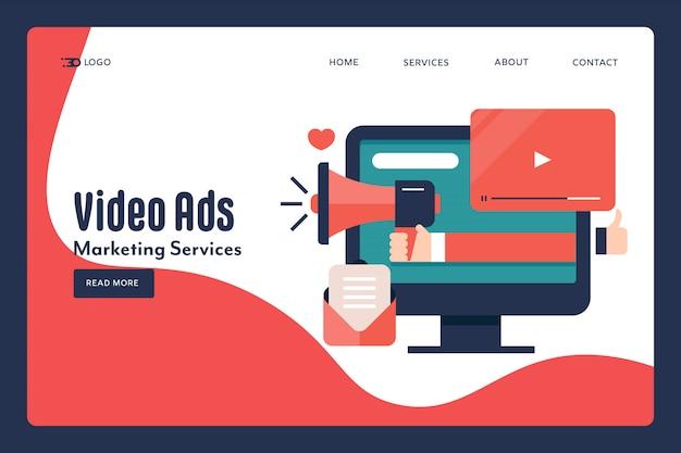 Концепция видео маркетинга Premium векторы