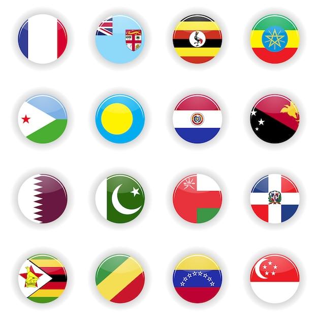 Флаги установлены Premium векторы