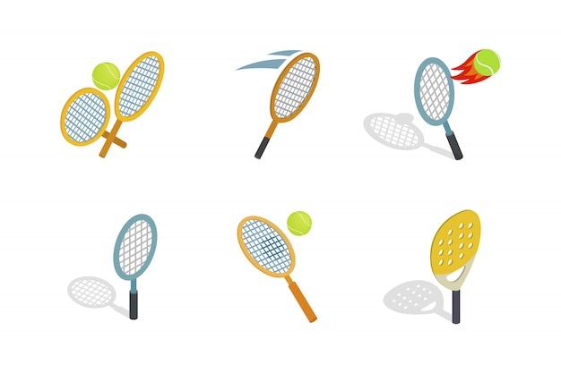 Значок теннисная ракетка на белом фоне Premium векторы