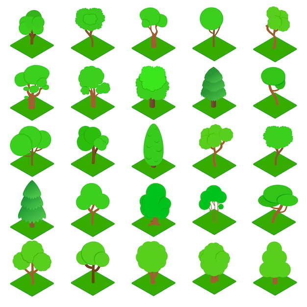 Набор иконок древесины Premium векторы