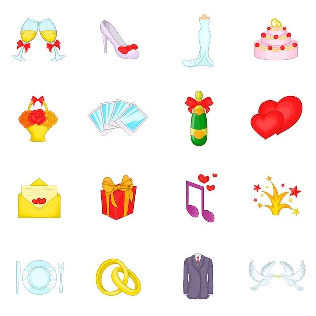 Набор свадебных иконок Premium векторы