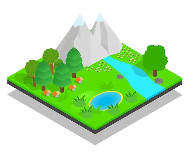 Концепция чистого леса Premium векторы