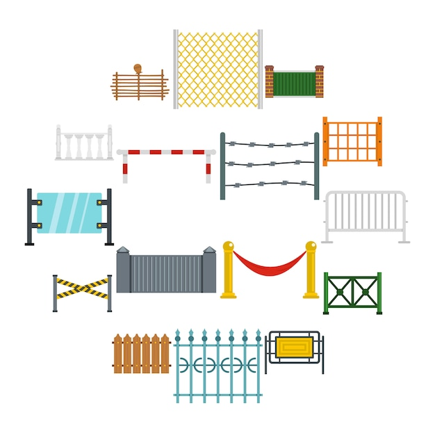 Фехтование иконки в плоском стиле Premium векторы