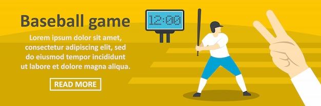 Горизонтальная концепция шаблона бейсбольного матча Premium векторы